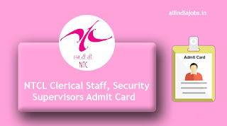 NTCL Clerical Staff Admit Card