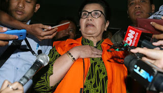 Hakim Tipikor Vonis Siti Fadilah Supari 4 Tahun Penjara