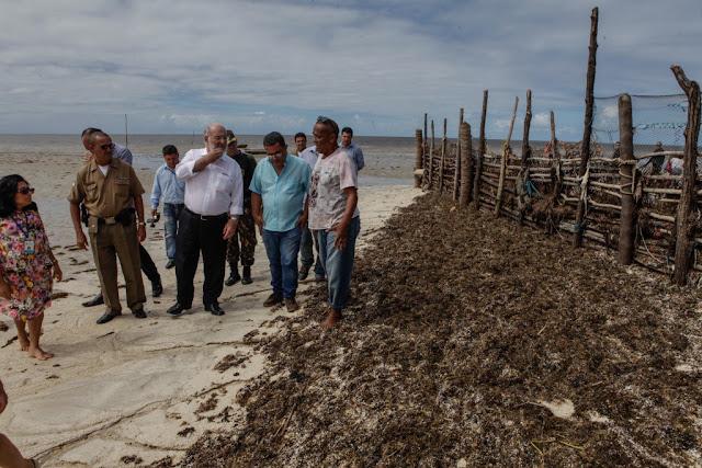 """Meio Ambiente verifica denúncia de """"privatização"""" da Praia de Carne de Vaca"""