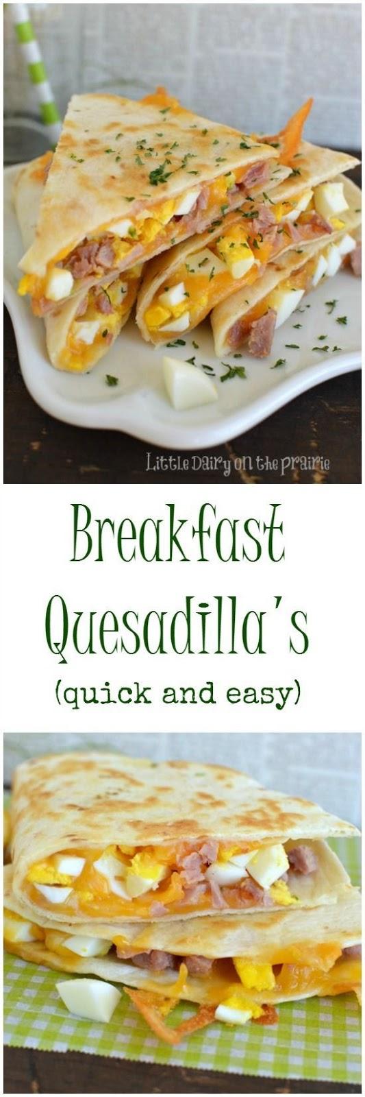 Breakfast Quesadillas #BREAKFAST #AMERICAN