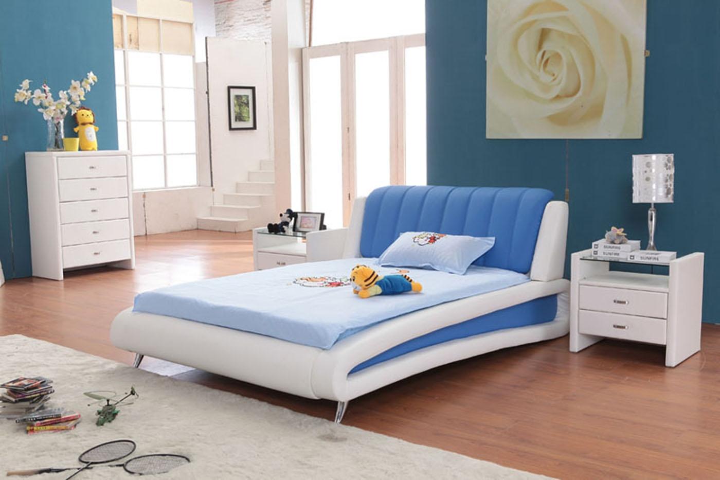 kamar tidur anak perempuan berwarna biru | sobat interior rumah