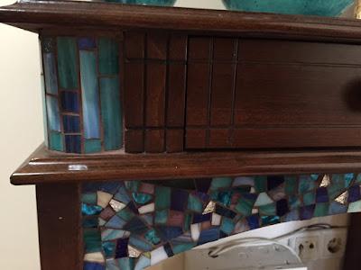 mobilyalarda mozaik tasarım