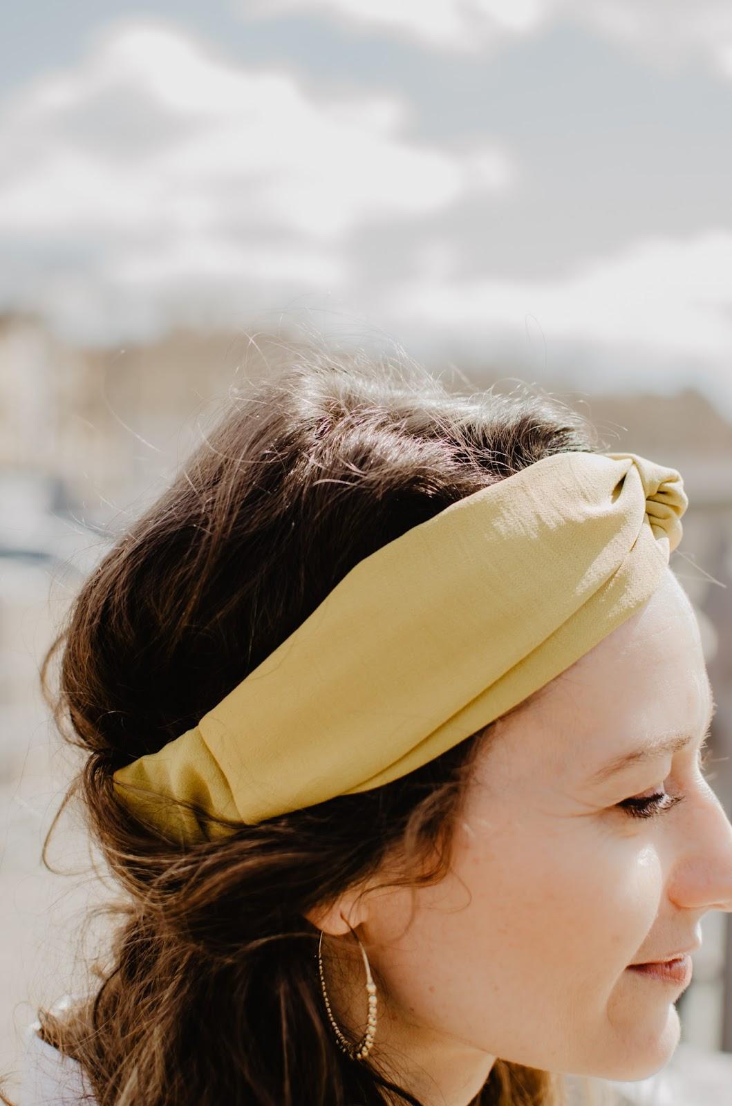 headband jaune moutarde les noeuds de papa