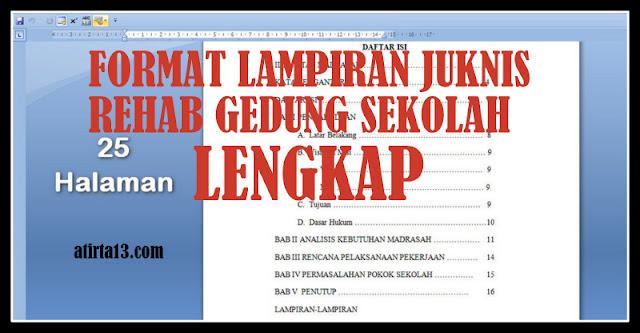 Download Format Lampiran JUKNIS Rehab Gedung Sekolah