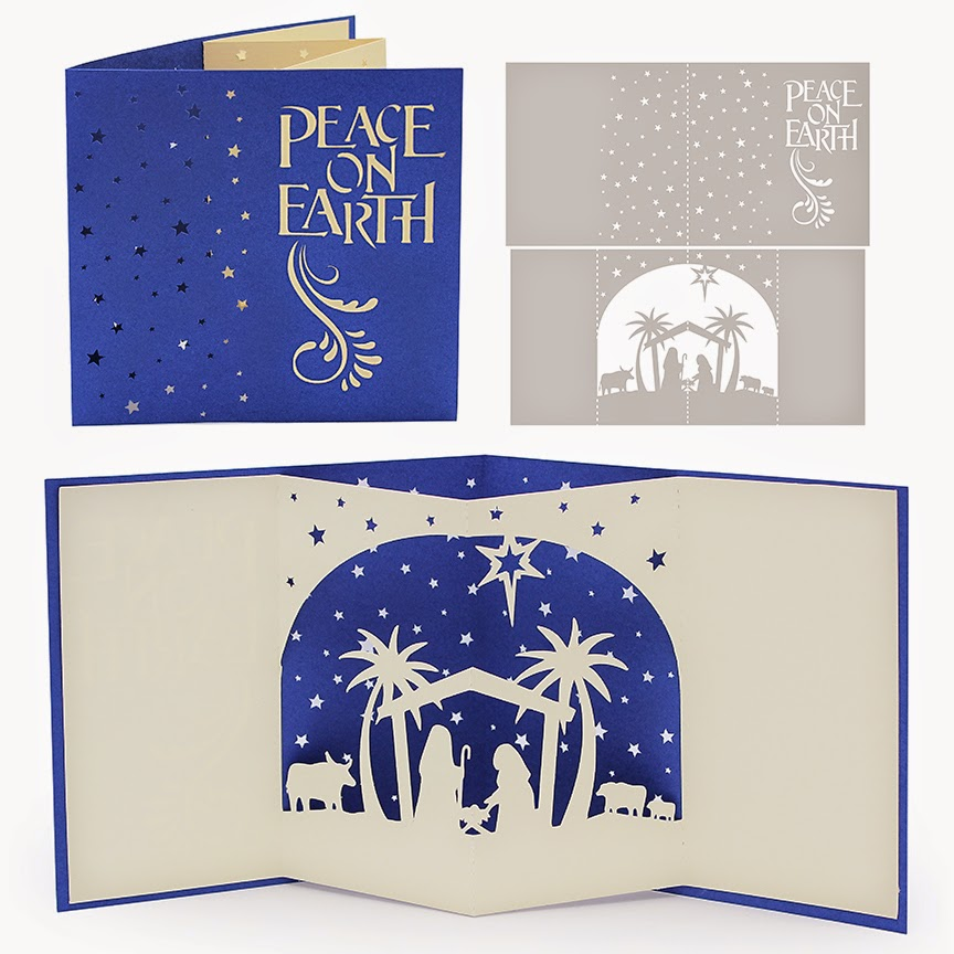 3 christmas greeting fold card 5x7 cutting template svg, laser cut, cricut, cameo, scanncut (svg, dxf, studio3, eps, png). The Non Crafty Crafter Cricut Resizing The Nativity Pop Up Card From Digiplayground