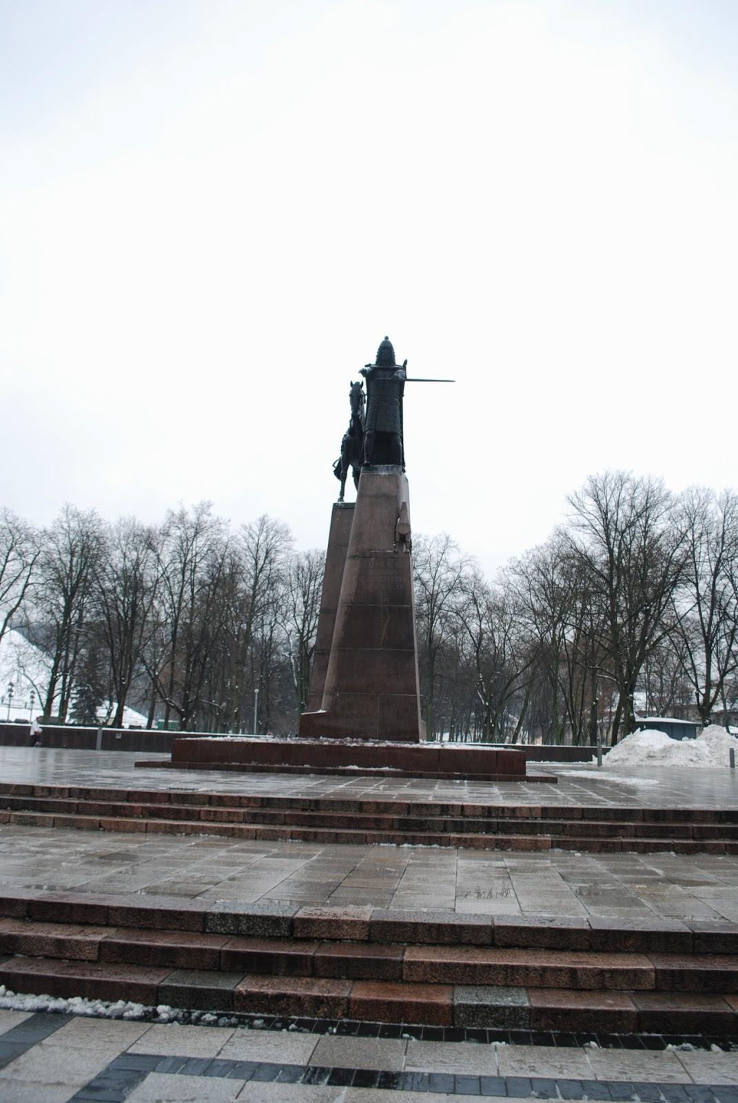 Памятник Гедимину.  Gedeminas monument.