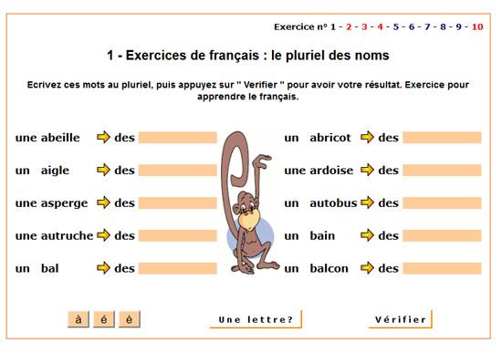 http://www.ortholud.com/grammaire/pluriel_des_noms/pluriel_1.php