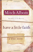 Have a Little Faith Book Review Recommendation -Mitch Albom - Book Recommendations for Women Men Young Adults