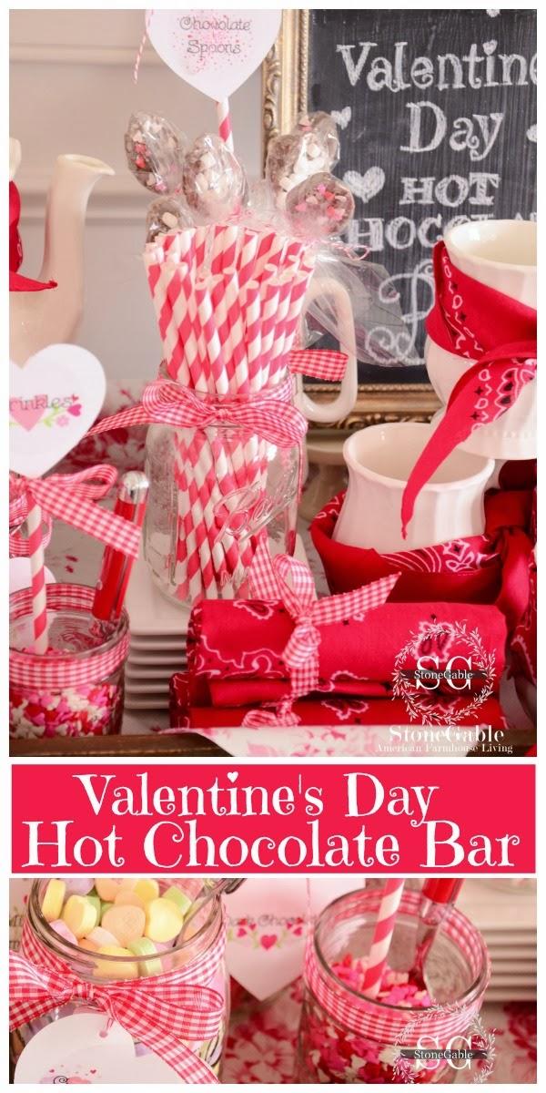 VALENTINE\'S DAY HOT CHOCOLATE BAR - StoneGable
