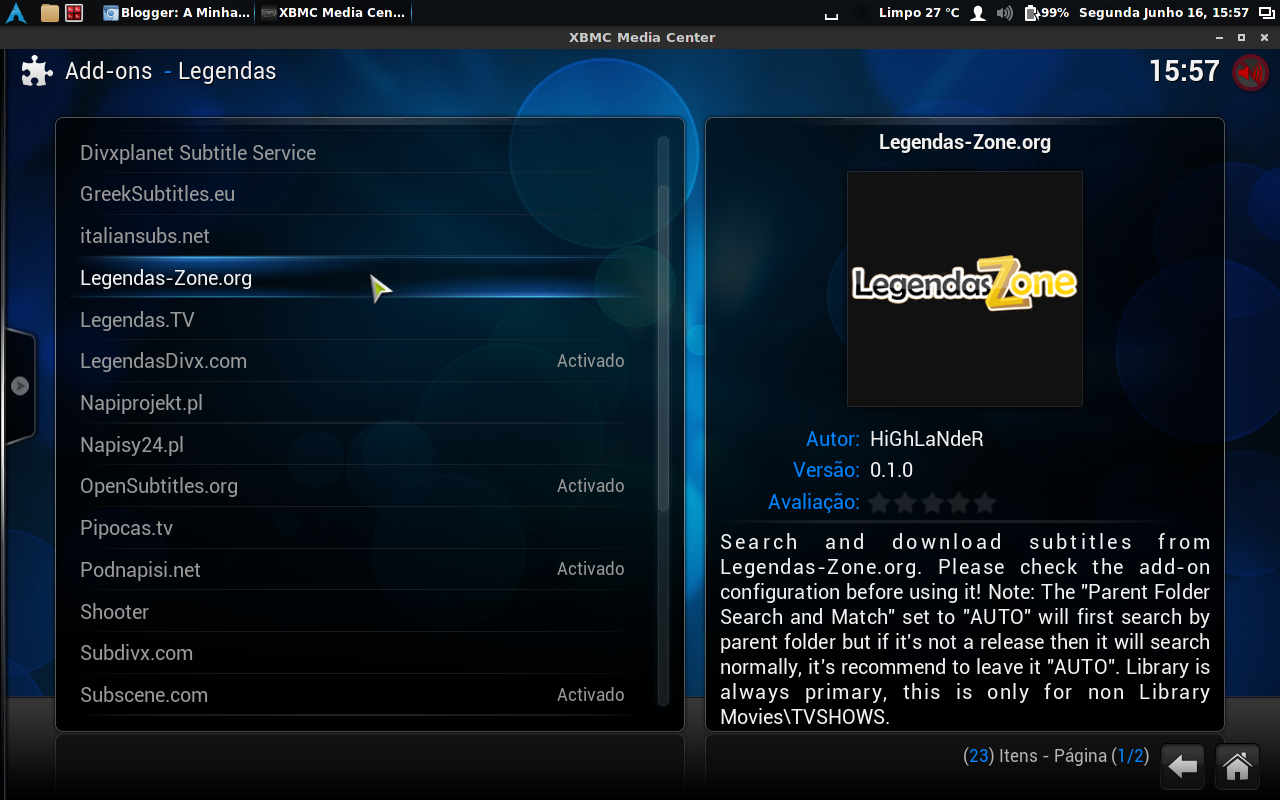 XBMC - Serviços de Legendas em Português - A Minha Casa Digital