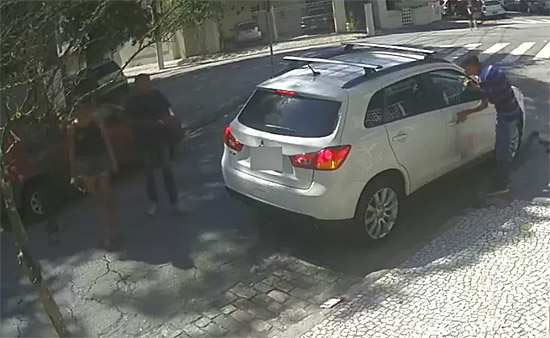 Sequestro relampago - camera segurança