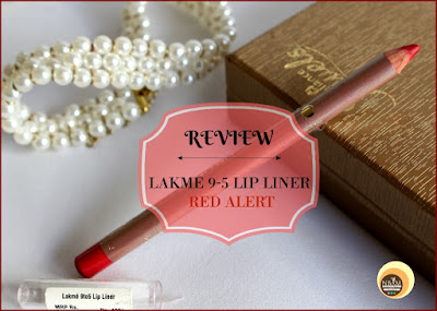 Lakme 9-5 Lip Liner Red Alert on Natural Beauty And Makeup Blog