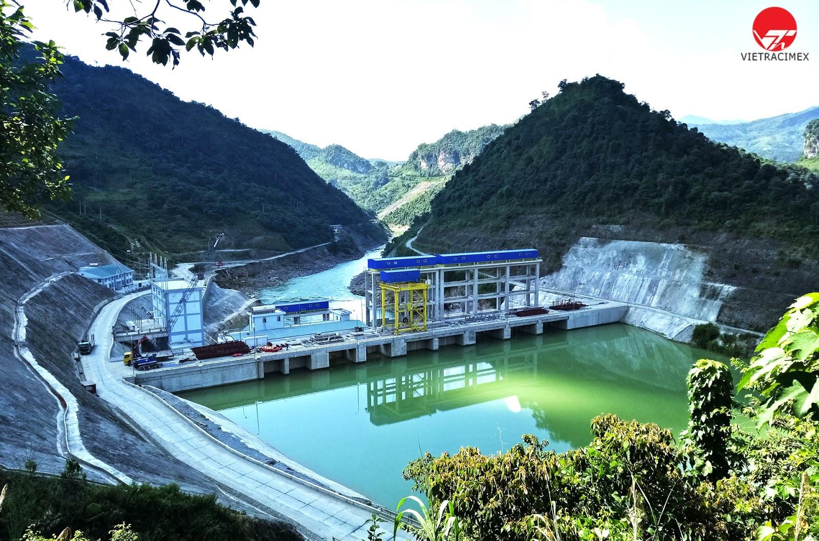 Nhà máy thuỷ điện Vietrcimex đã triển khai xây dựng