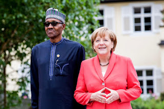 President Buhari and Angela Merkel at G-7 summit hosted by Germany