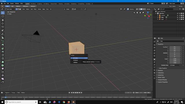 Blender 2.8 Merge At Center