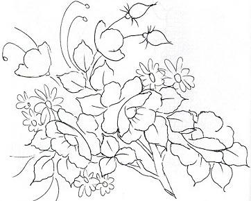 ... Riscos e muitas dicas.: Riscos Desenhos Para Pintura em Tecido Flores