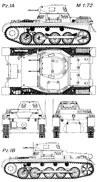 Первый немецкий танк модификаций Pz. lA и Pz. lB