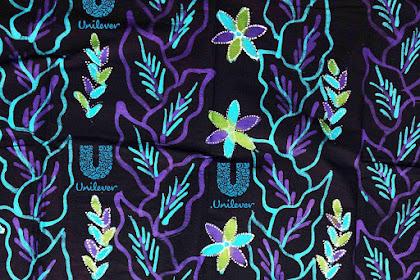 Seragam batik modern berlogo di Yogyakarta 085745437157