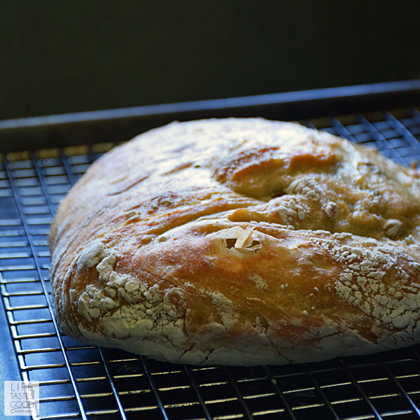 Crusty Artisan Style Bread | by Life Tastes Good #LTGrecipes