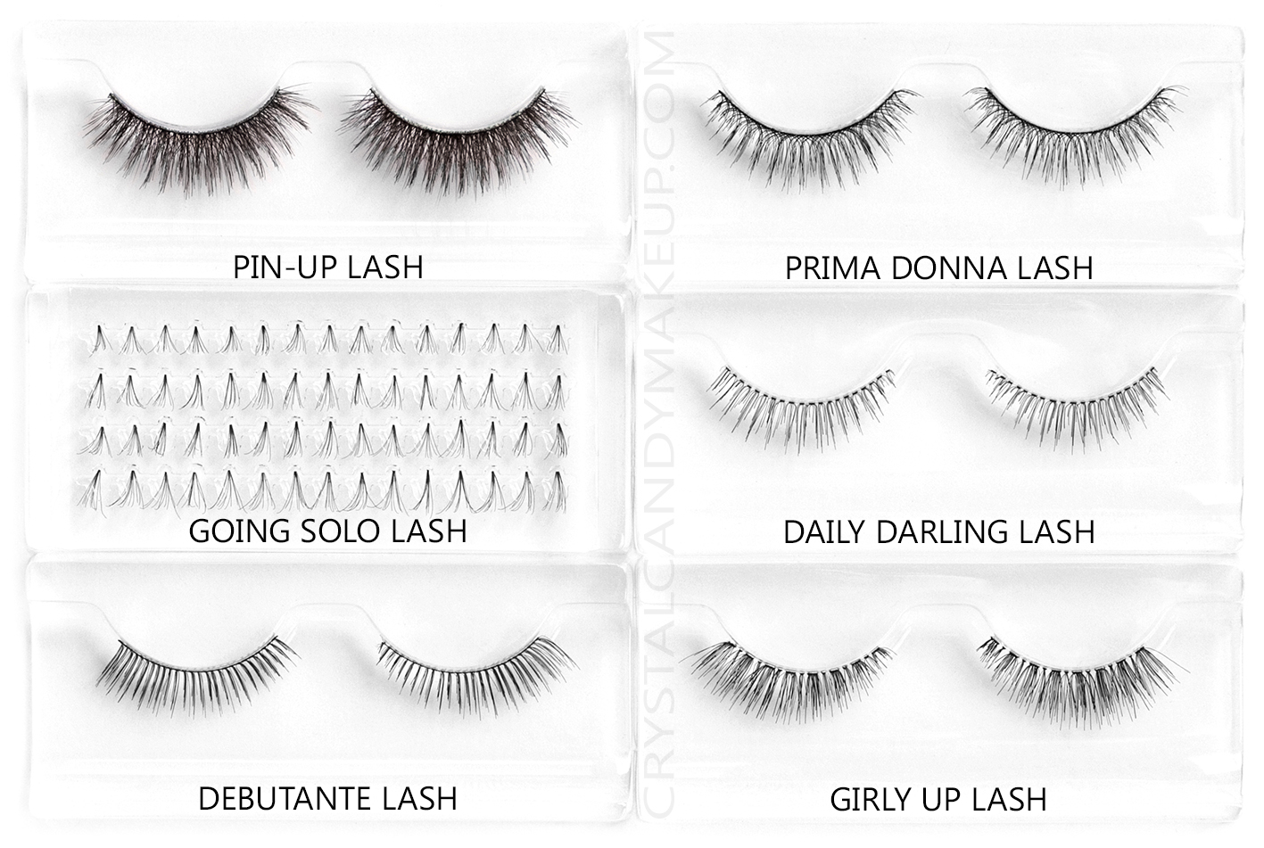 Benefit Real False Lashes Review Pin-Up Going Solo Debutante Prima Donna Daily Darling Girly