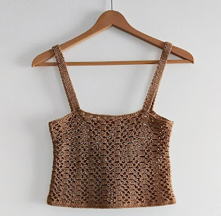 Crop top de verano a crochet