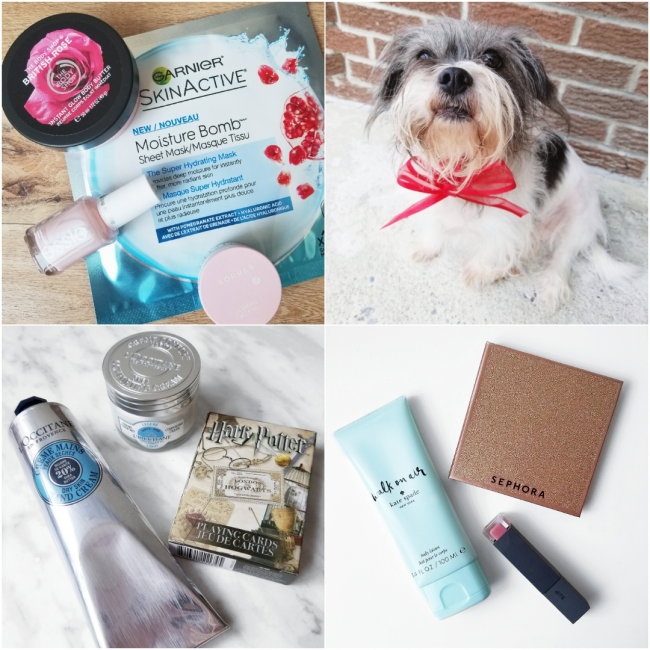 bbloggers, bbloggersca, canadian beauty bloggers, beauty blog, instamonth, instagram, round up, lifestyle, garnier, skincare, moisture bomb, sheet mask, l'occitane, shea cream, harry potter, deck of cards, kate spade, walk on air, bite beauty, eclair
