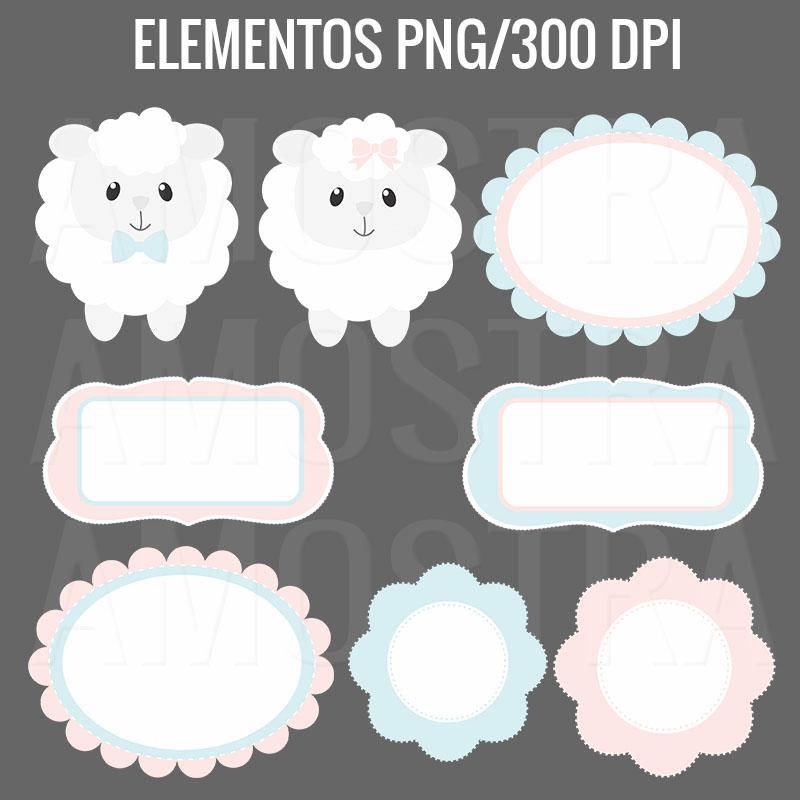 Kit Digital Ovelhinhas Baby Cantinho Do Blog
