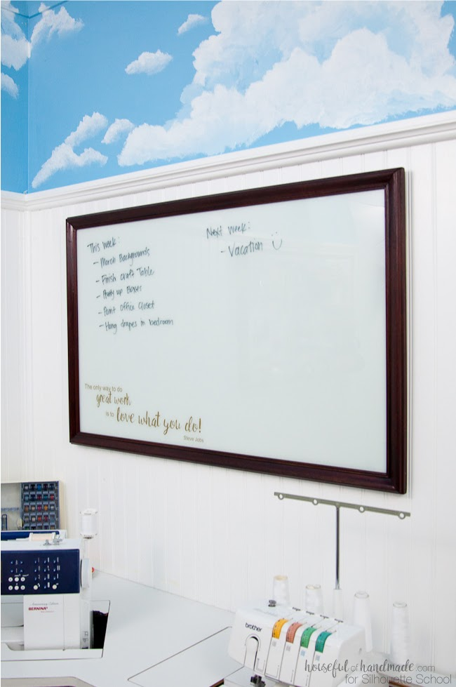 custom whiteboard, DIY whiteboard, spraypaint vinyl, spraypaint glass