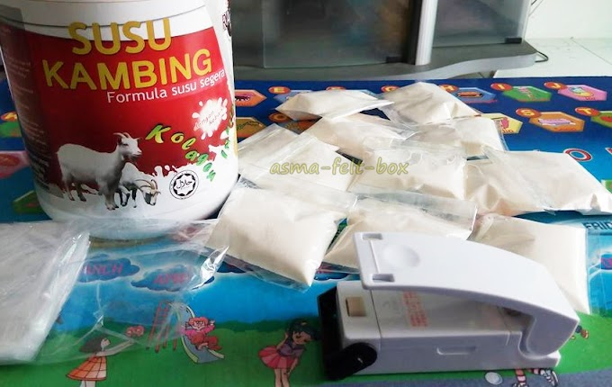 Packing sampel susu kambing