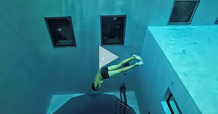 Would you dive into the World's Deepest Indoor Swimming Pools?