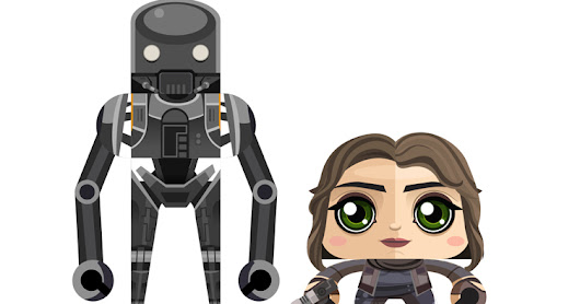 Jyn Erzo and K-2SO