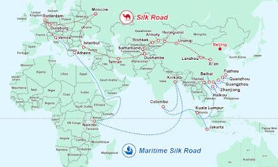 """Océan Indien : La Chine veut mettre en place des voies de communication économique """"bleue"""""""