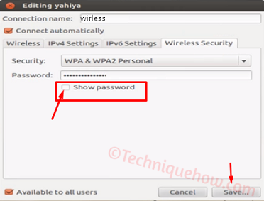 View Saved Wireless Security Key on Ubuntu 4