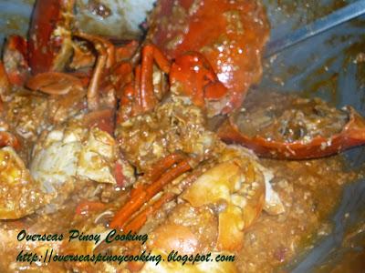 Chili Crab - Cooking Procedure