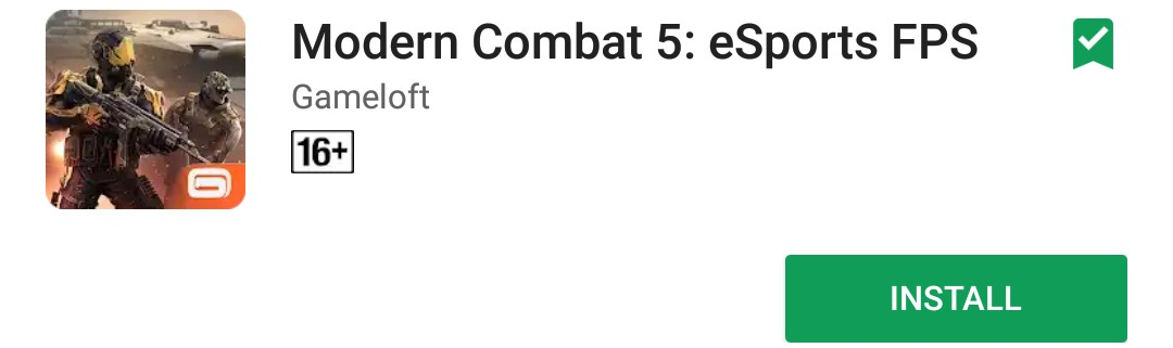 Download Modern Combat 5 Blackout From Google Play Store