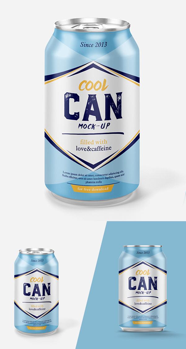 Mockup terbaru 2017 gratis - Free Highest Quality Drink Can Mockup PSD