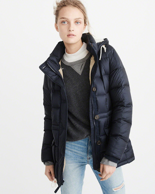 Abercrombie: Down Filled Puffer Coat only $43 (reg $180) + Free Shipping!