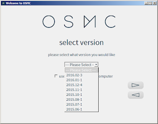 Choose OSMC Version