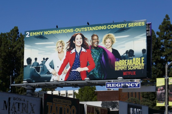 Kimmy Schmidt season 4 Emmy nominee billboard