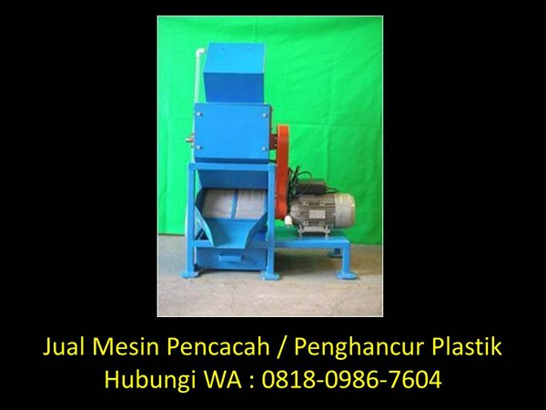 mesin penghancur plastik bekuan di bandung