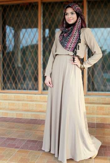 contoh baju muslim model terbaru 2015