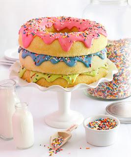 Triple Stack Donut Cake