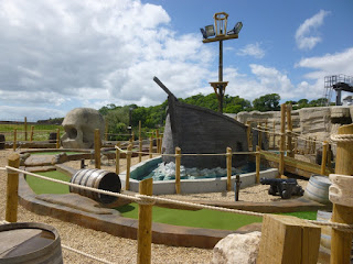 Adventure Mini Golf course at Funder Park in Dawlish Warren
