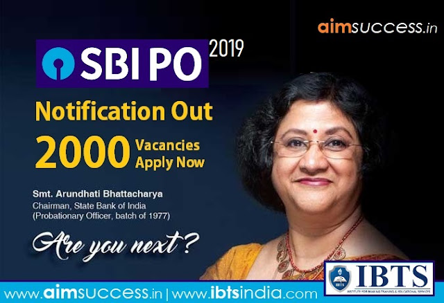 SBI PO Notification 2019 Out for 2000 Vacancies, Download PDF!