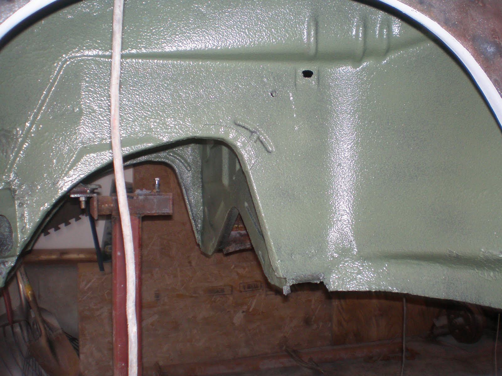 karmann ghia convertible wheel  painting  pol raptor liner