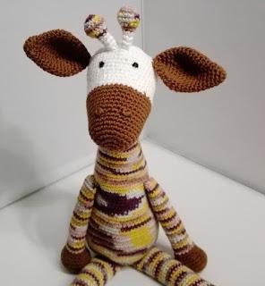 knuffel haken giraf