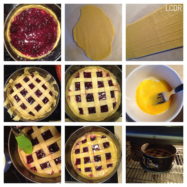 Receta de pastel tipo 'pie' de ciruelas: montaje de la tarta