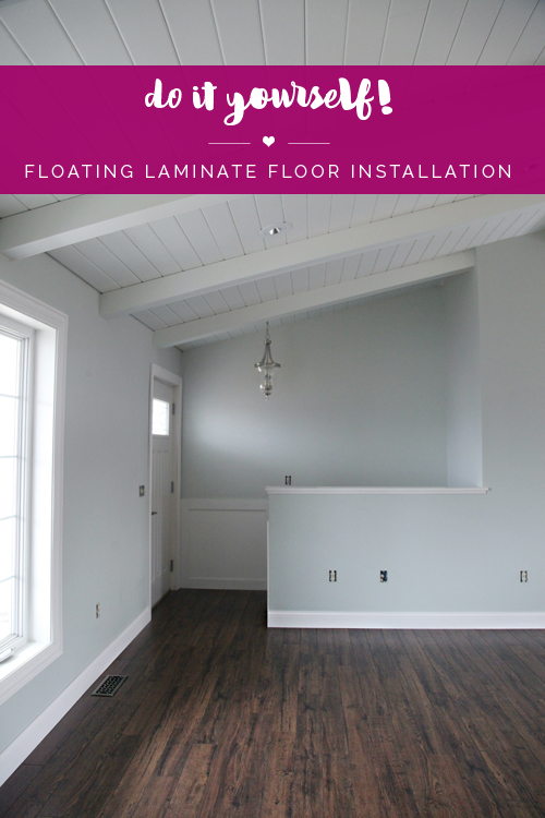 Iheart Organizing Do It Yourself Floating Laminate Floor Installation