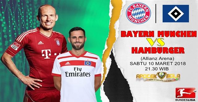 Prediksi Bayern Munich vs Hamburger SV 10 Maret 2018