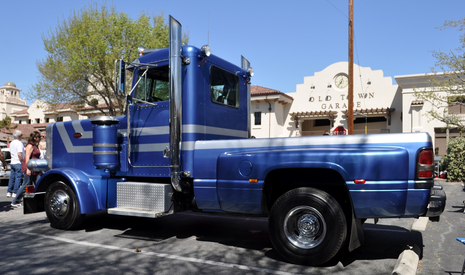 3 1 z rig diagram 1986 harley sportster wiring classic cars authority: here is an unusual rig, a kenworth cab and hood with dodge pickup bed ...